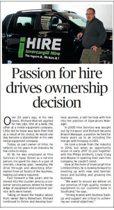 Passion for hire drives ownership decision