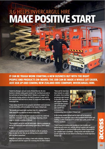 JLG helps Invercargill Hire make positive start